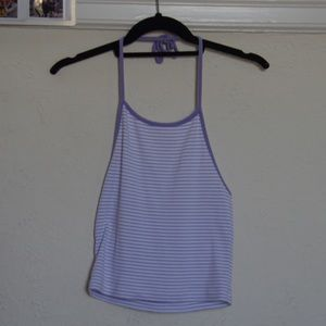 brandy melville purple halter top